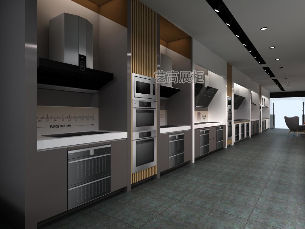藝高廚電展廳展柜設計案例