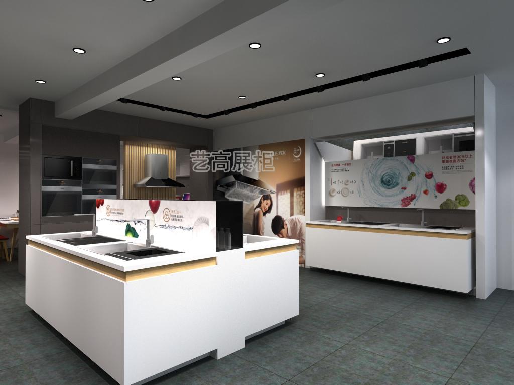天上人间娱乐厨电展厅展柜设计案例
