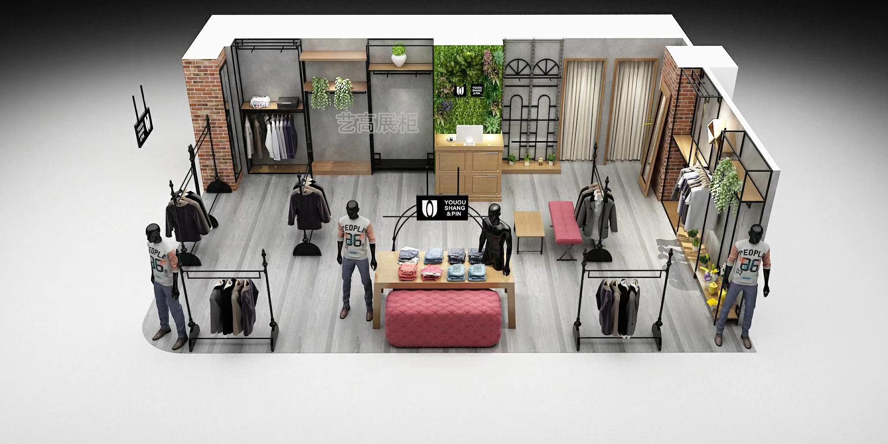 服装店展柜案例设计图